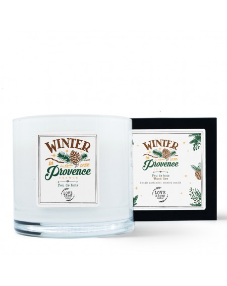 "3 wick ""Winter in Provence"" scented candle"