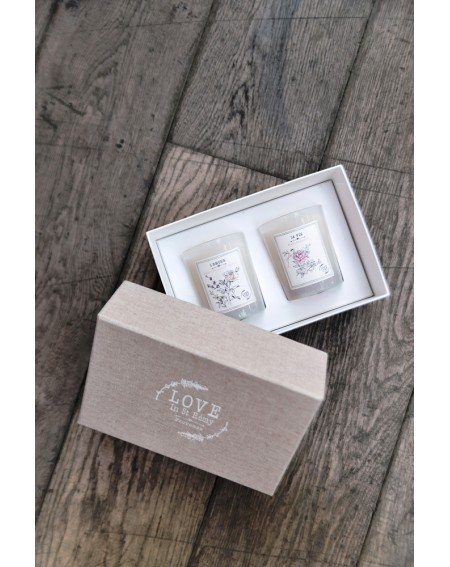 Coffret Duo Bougies Love In St Rémy