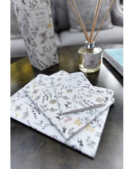 """Medium """"Provençal garden"""" notebook"""